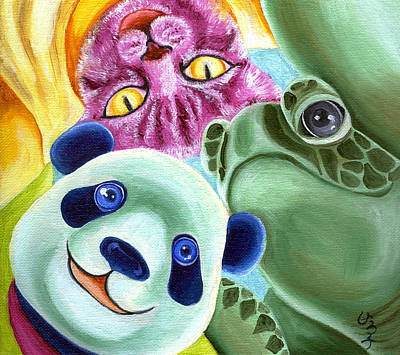 Panda Illustration Painting - From Okin The Panda Illustration 9 by Hiroko Sakai