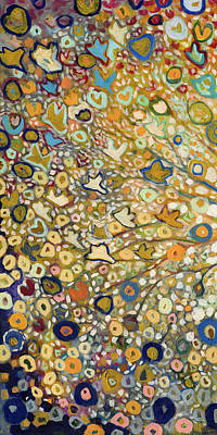 Gold Painting - From Out Of The Rubble Part A by Jennifer Lommers