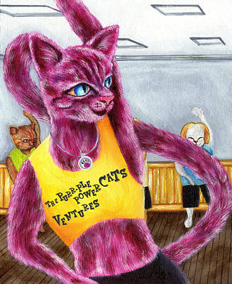 Sports Book Painting - From Purple Cat Illustration 15 by Hiroko Sakai