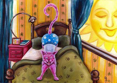 From Purple Cat Illustration 2 Art Print