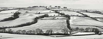 From Raddon Top In The Snow Art Print by Pete Hemington
