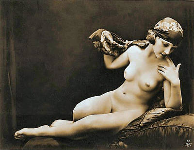 From Risque Postcard Collection 4 Art Print by Studio Photographer