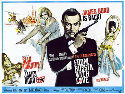 1963 Movies Photograph - From Russia With Love, British Poster by Everett