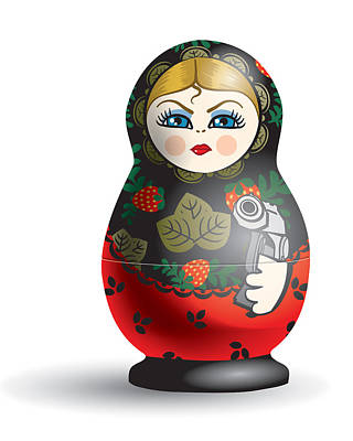 Matryoshka Digital Art - From Russia With Love by Vanessa Bates