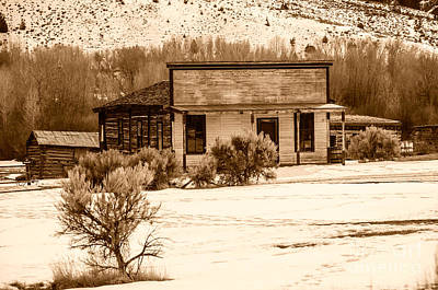 From Saloon To Store Front And Home In Sepia Art Print by Sue Smith