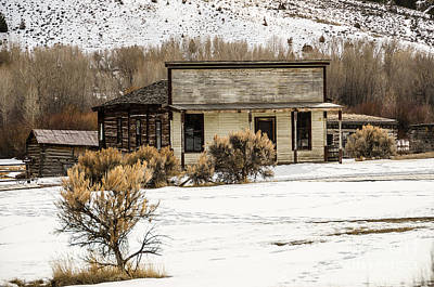 Bannack State Park Photograph - From Saloon To Store Front And Home by Sue Smith