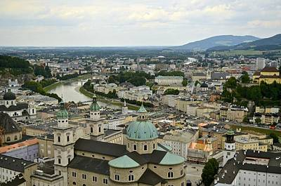 From Salzburg Castle Art Print by Marty  Cobcroft