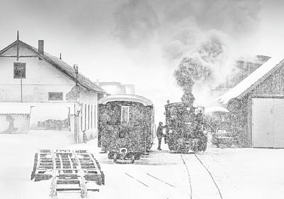 Steam Engines Wall Art - Photograph - From Siberia With Love ! by Sorin Onisor