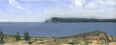 Painting - From Sleeping Bear Point by Charles Pompilius