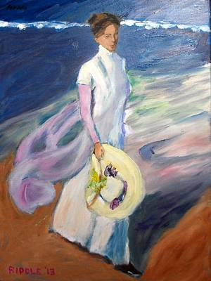 Painting - from Sorolla's Strolling on the Seashore by Jack Riddle