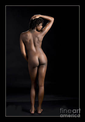 Chynna African American Nude Girl In Sexy Sensual Photograph And In Color 1170.02 Print by Kendree Miller