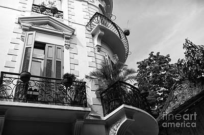 Photograph - From The Casco Viejo Balcony Mono by John Rizzuto