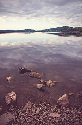 From The Depth Of Silence. Ladoga Lake  Print by Jenny Rainbow