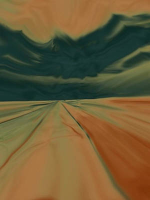 Painting - From The Drivers Seat by Dennis Buckman