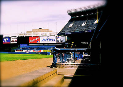 Photograph - From The Dugout  The Yankee Stadium by Iconic Images Art Gallery David Pucciarelli