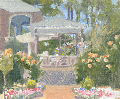 Verandah Painting - From The Garden by Candace Lovely