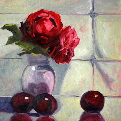 Painting - From The Garden by Nancy Merkle