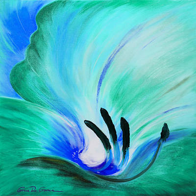 Painting - From The Heart Of A Flower - Green by Gina De Gorna