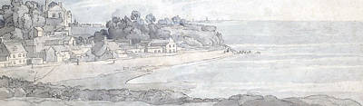 Harbor Drawing - From The Heathfields Seat by Francis Towne