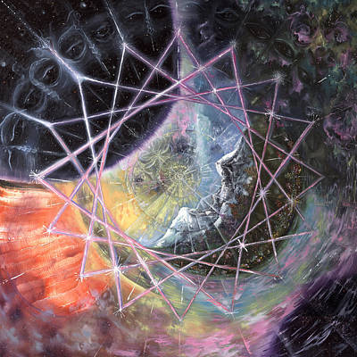 Visionary Art Painting - From The Inward Outward by Jerod  Kytah