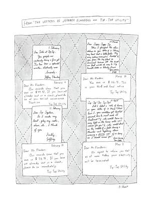 Electricity Drawing - From The Letters Of Jeffrey Flanders And Tip-top by Roz Chast