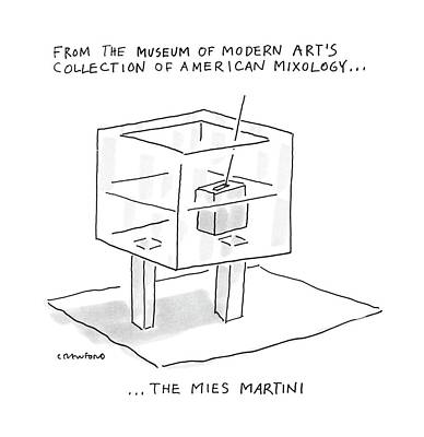 Martini Drawing - From The Museum Of Modern Art's Collection by Michael Crawford