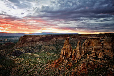 From The Overlook - Colorado National Monument Art Print by Ronda Kimbrow