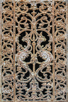 Antique Ironwork Photograph - From The Past by Delphimages Photo Creations