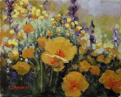 Flower Fields Painting - From The Shadows by Laura Lee Zanghetti