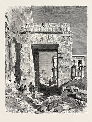 From The Temple Of Isis At Philae Art Print