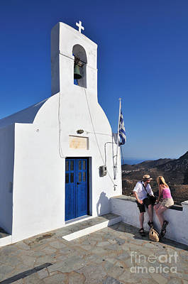 Tourism Photograph - The Top Of Serifos Town by George Atsametakis