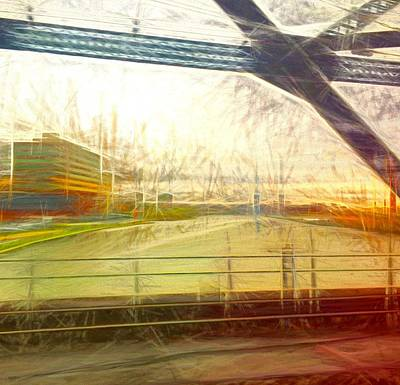 Photograph - From The Train Abstracted by Alice Gipson