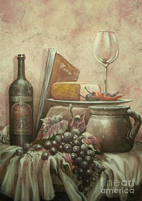 Old Pitcher Painting - From The Vine by Martin Lacasse