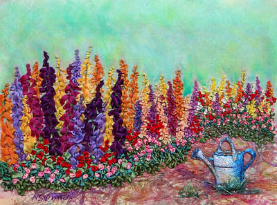 Watering Can Mixed Media - From The Watering Can by Ana Sumner