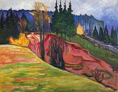 Painting - From Thuringewald by Edvard Munch