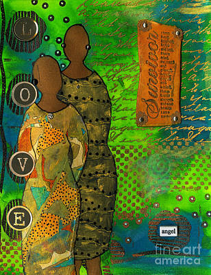 Art Journal Mixed Media - From Tragedy To Triumph-we're Still Standing by Angela L Walker