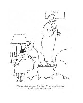 Pity Drawing - From What The Poor Boy Says by Gardner Rea