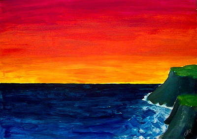 Painting - From Where The Sun Meets The Sea by Nieve Andrea