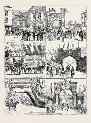 From Windsor To Claremont 1. The Bride And Bridegroom Art Print