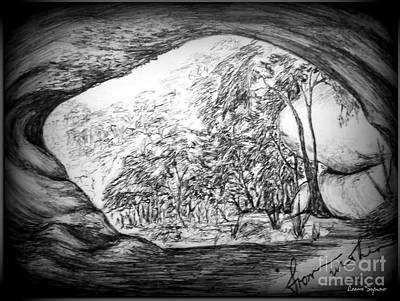 Drawing - From Within 1 by Leanne Seymour