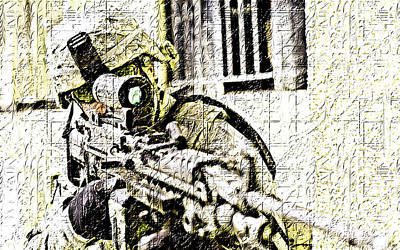 Soldiers Photograph - Front Command by VRL Art