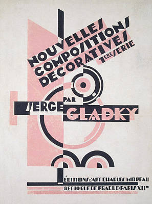 Constructivist Drawing - Front Cover Of Nouvelles Compositions Decoratives by Serge Gladky
