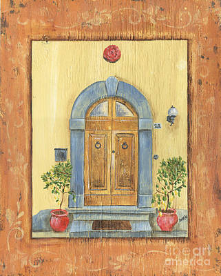 Burnt Painting - Front Door 1 by Debbie DeWitt