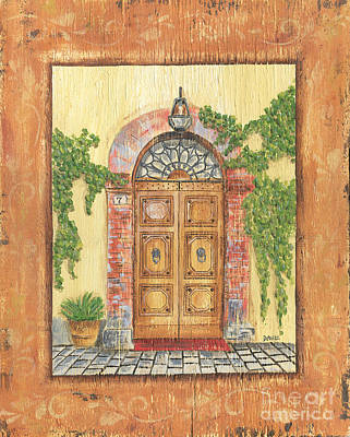 Brick Painting - Front Door 2 by Debbie DeWitt