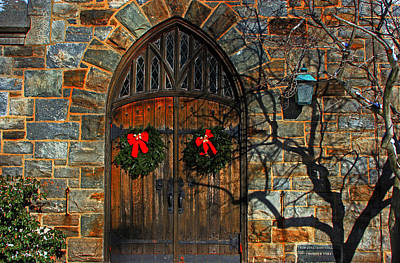 Front Door To Baldwin Memorial United Methodis Art Print