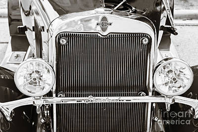 Photograph - Front End 1929 Chevrolet Classic Car Automobile Sepia 3131.01 by M K Miller