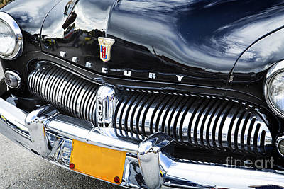 Photograph - Front End 1949 Mercury Classic Car In Color 3196.02 by M K Miller