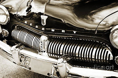Photograph - Front End 1949 Mercury Classic Car In Sepia 3196.01 by M K Miller