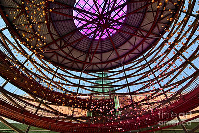 Front Entry Plaza Of The California Science Center In Los Angeles Art Print by Jamie Pham