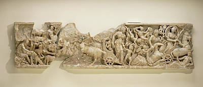 Endymion Drawing - Front Of A Sarcophagus With The Myth Of Endymion Unknown by Litz Collection